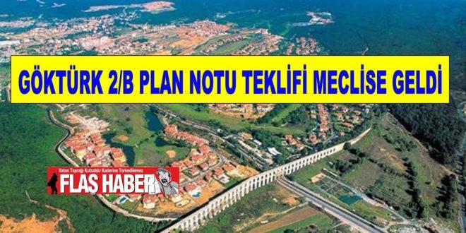 Göktürk Yerleşmesinin Bir Kısmına Ait Uygulama İmar Planı İtirazlarına İlişkin Uygulama İmar Planı Değişikliği Planında plan notu tadilatına ilişkin plan paftası